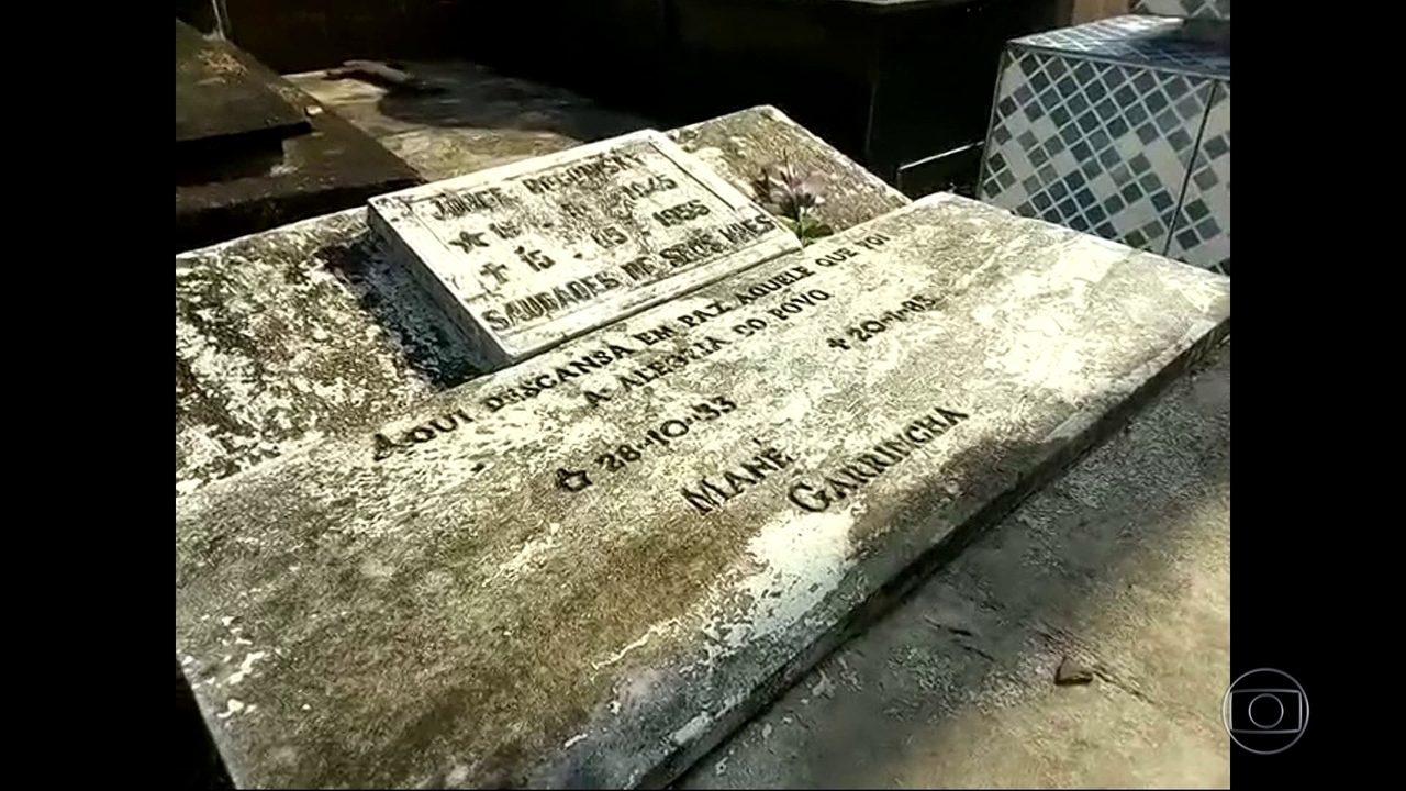Família não sabe onde estão restos mortais de ídolo Mané Garrincha