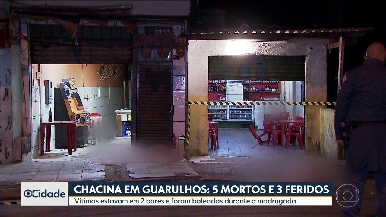 Chacina em Guarulhos deixa 5 pessoas mortas e 3 feridas