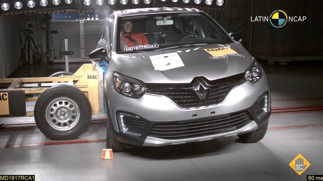 Renault Captur conquista quatro estrelas no Latin NCap