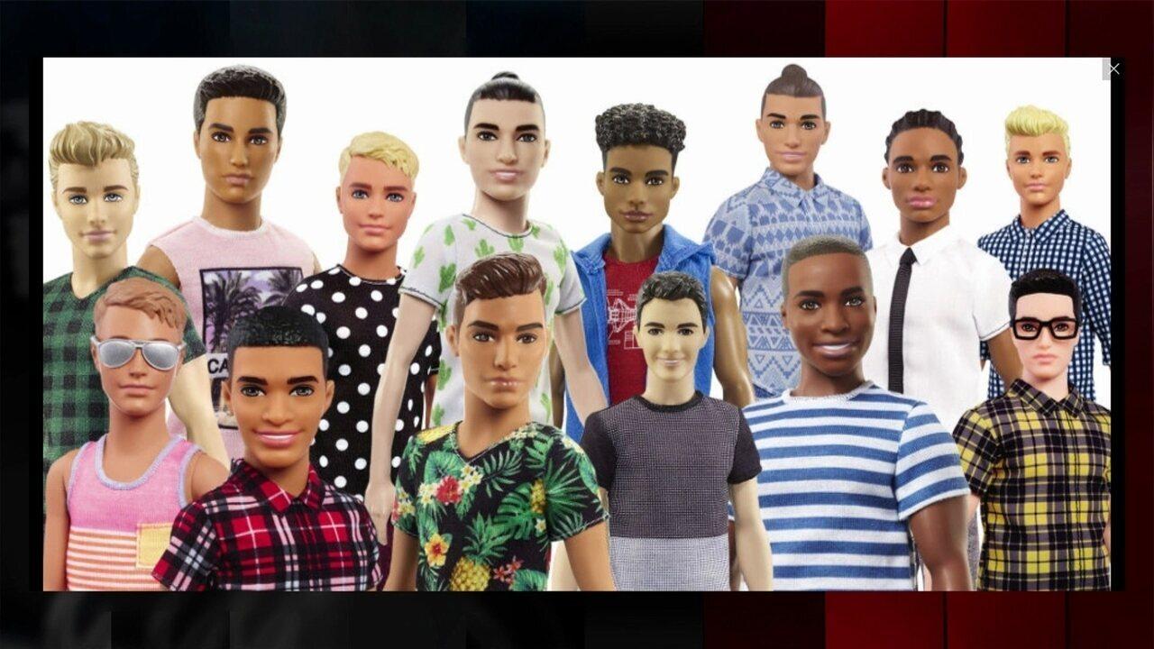 4bdf04d2fca50 Novos bonecos Ken fazem sucesso entre os adultos nas redes sociais -  GloboNews - Estúdio i - Catálogo de Vídeos