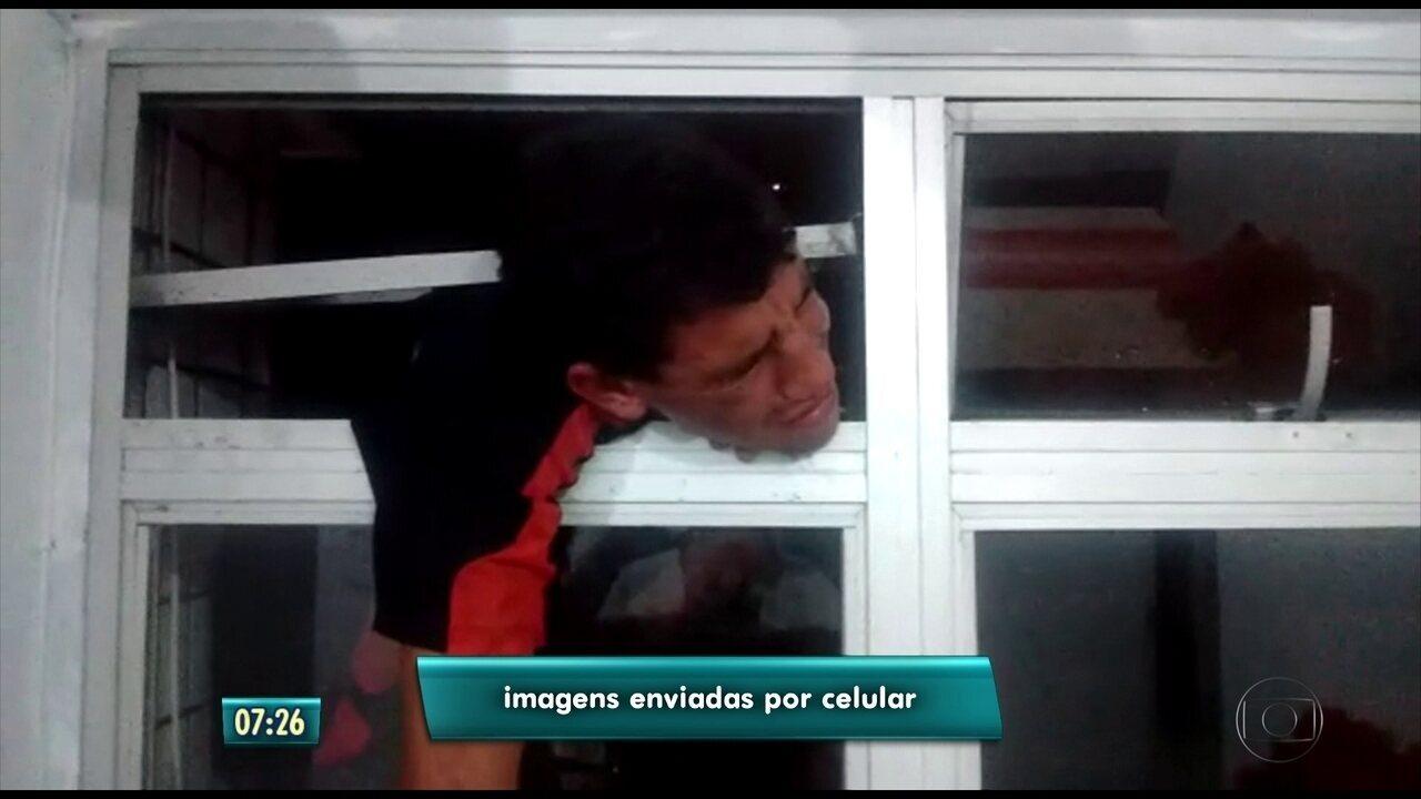 Resultado de imagem para Suspeito de assalto fica preso na janela ao tentar invadir apartamento na Zona Sul do Recife
