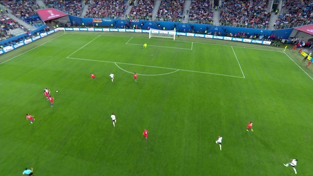 Assista aos melhores momentos de Chile 0 x 1 Alemanha pela final da Copa das Confederações 2017