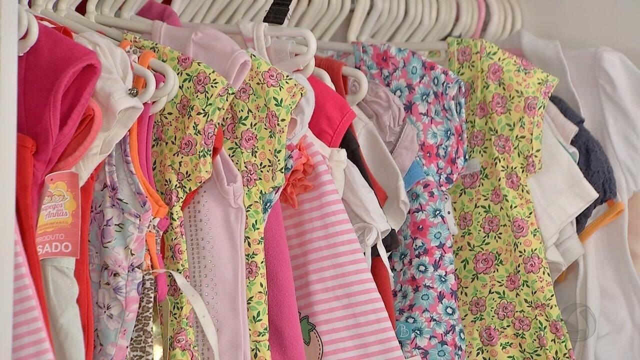 8fc699a5d4b Brechós infantis se tornaram opções baratas para mães - G1 Mato Grosso - MT  TV 1ª Edição - Catálogo de Vídeos