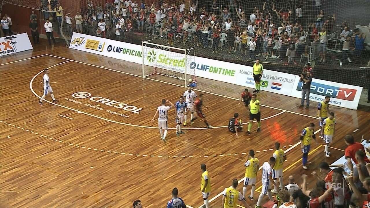 b0442a68936cc Joinville está na final da Liga Nacional de Futsal - G1 Santa Catarina -  Jornal do Almoço - Catálogo de Vídeos