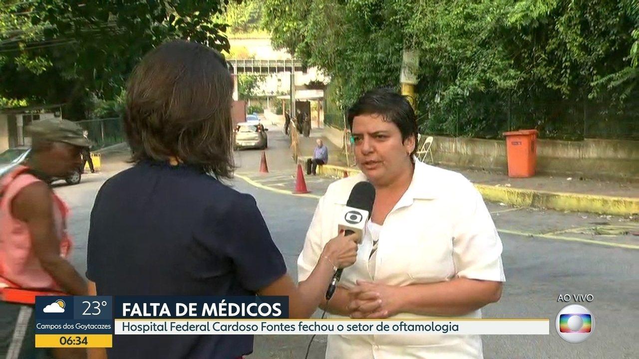 Hospital fecha setor de oftalmologia por falta de médicos - G1 Rio de Janeiro - Vídeos - Catálogo de Vídeos
