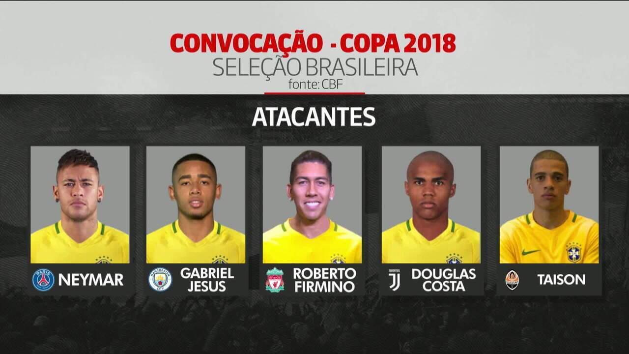 Tite anuncia a lista dos 23 convocados da seleção para a Copa do Mundo -  GloboNews - GloboNews em Pauta - Catálogo de Vídeos 79dd679aa1b5a