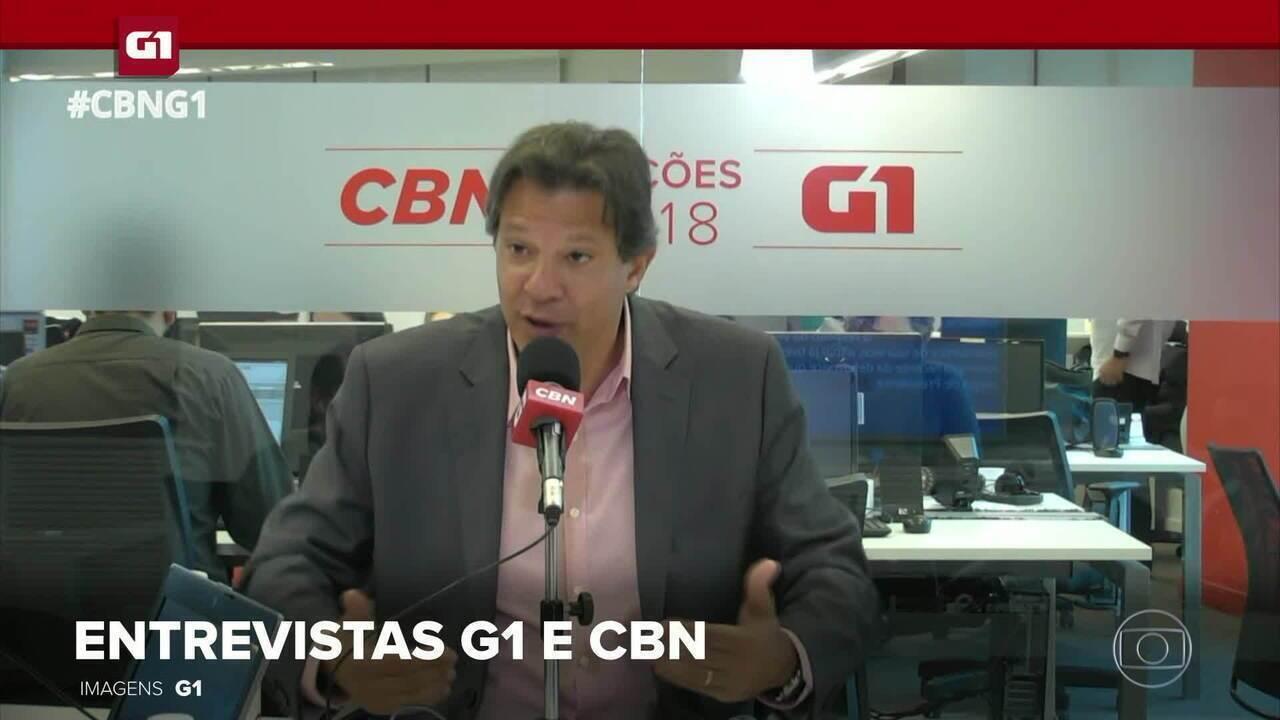 G1 em 1 Minuto: CBN e G1 entrevistam candidato a presidente Fernando