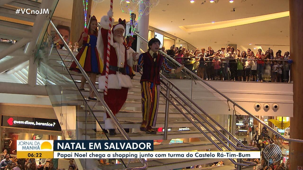 Salvador Shopping inaugura decoração natalina com festa para receber o  Papai Noel - G1 Bahia - Jornal da Manhã - Catálogo de Vídeos 38fb83ef455b3