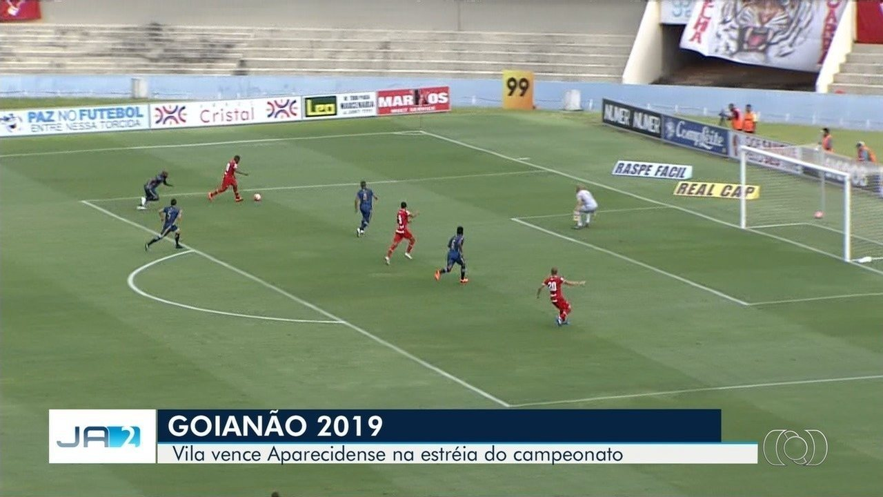 3e6e2476b9 Vila Nova vence Aparecidense no primeiro jogo do Goianão - G1 Goiás -  Vídeos - Catálogo de Vídeos
