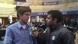 <p>  Repórteres do GloboEsporte.com contam como estão Paraguai e Argentina para a semifinal.</p>