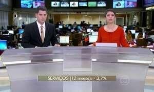 Setor de serviços encolhe 5% em janeiro