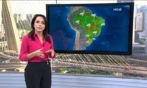Temperaturas devem cair em parte do Sudeste e do Sul do Brasil nesta quarta-feira (23)
