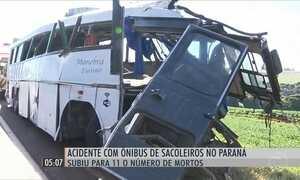 Sobe para 11 o número de mortos em acidente com um ônibus de sacoleiros