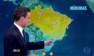 Confira como fica o tempo nesta segunda-feira (23)