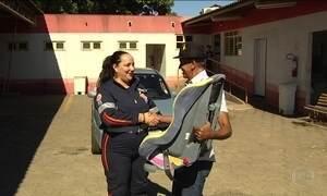 Campanha em Goiânia arrecada cadeirinhas que não são mais usadas para doação