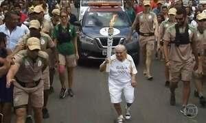 Tocha olímpica deixa a Bahia e chega a Pernambuco