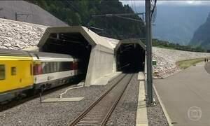 Maior e mais profundo túnel do mundo é aberto na Suíça