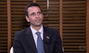 Capriles vem ao Brasil pedir apoio para que o governo Chavista cumpra a lei