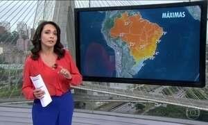 Meteorologia faz alerta de baixas temperaturas para grande parte do país