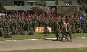 Tropas militares antecipam treinamento nas ruas do RJ