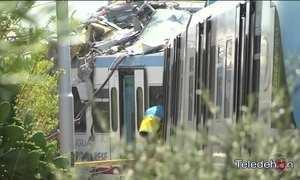 Colisão de trens deixa pelos menos 20 mortos na Itália