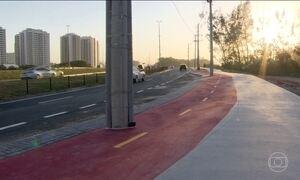 Prefeitura do Rio refez traçado da ciclovia em frente à Vila dos Atletas