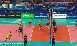 Seleção masculina de vôlei derrota a Itália na fase decisiva da Liga Mundial