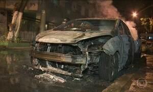 Nove carros são incendiados na Zona Norte do RJ