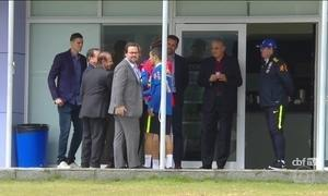 Tite participa de treino da seleção de futebol que disputará Olimpíada