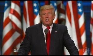Donald Trump aceita formalmente indicação para eleição presidencial