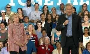 Hillary Clinton anuncia Tim Kaine como seu vice na corrida presidencial