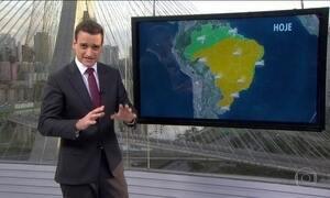 Previsão de tempo firme para quase todo o país nesta quarta (27)