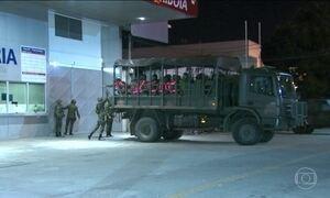 Militares ocupam estação das barcas em exercício para a Olimpíada