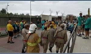 Prédio da Vila dos atletas tem princípio de incêndio; ninguém se feriu
