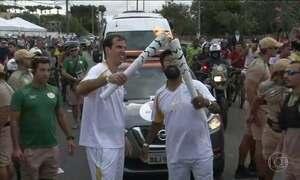 Tocha olímpica continua seu percurso no Rio de Janeiro