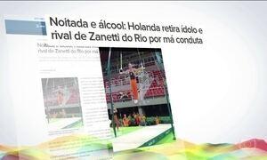 Atleta holandês da ginástica é expulso por beber durante a Olimpíada