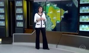 Previsão é de chuva fraca e vento no Rio