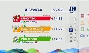 Confira a agenda dos jogos desta quinta-feira (11)