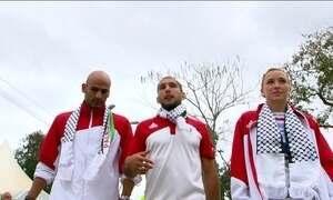 Atletas palestinos se unem para torcer por vitórias deles na Olimpíada do Rio