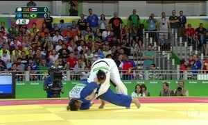 Judoca Mayra Aguiar conquista medalha de bronze