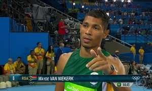 Sul-africano bate recorde mundial dos 400 metros rasos