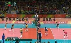 Brasil perde para a China e se despede da Olimpíada