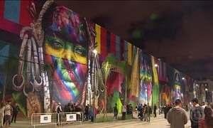 Rio vira galeria a céu aberto para obras de arte gigantes na Olimpíada