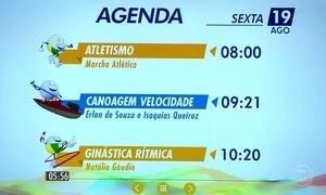 Confira a agenda do Brasil nos Jogos desta sexta (19)