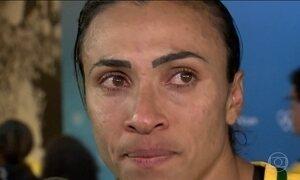 Futebol feminino do Brasil perde para o Canadá na Arena Corinthians (SP)