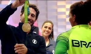 Confira o clipe com imagens do trabalho da equipe da Globo na cobertura da Olimpíada