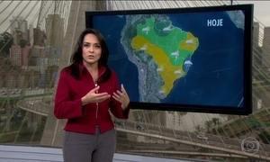 Veja a previsão do tempo para esta terça-feira (23) em todo o Brasil
