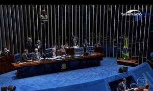 Senadores fazem considerações finais antes da votação do impeachment