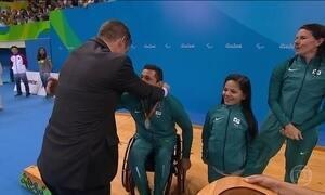 Brasil ganha prata histórica no revezamento misto 4 x 50 m livre