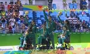 Brasil leva ouro e prata na bocha paralímpica